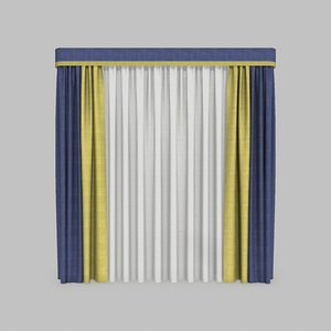 curtains 11 modeled 3D model