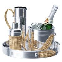 3D model set champagne bottle