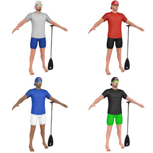 pack athlete paddle 3D