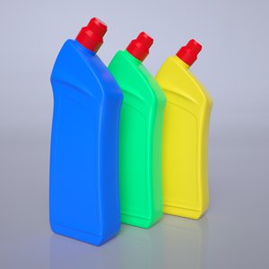 3D plastic bottle model