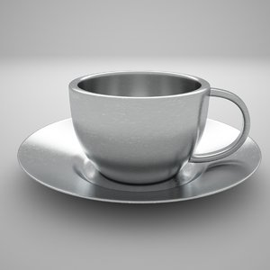 3D model stainless steel espresso cup