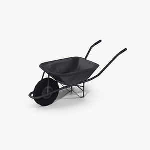3D metal wheel barrow model