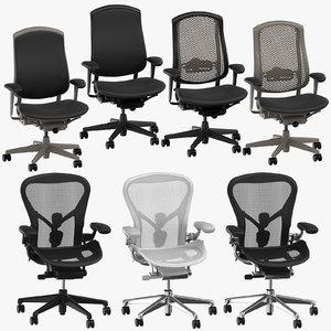 herman miller chairs 3D