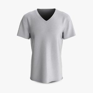 3D cotton male t-shirt dropped model