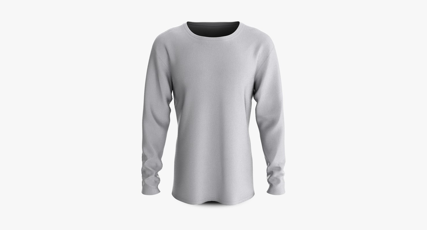 3D model cotton male shirt dropped