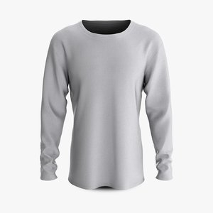 3D model cotton male shirt dropped