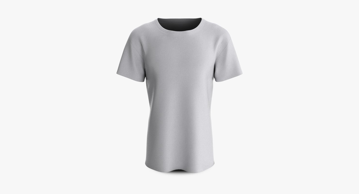 cotton male shirt dropped 3D model