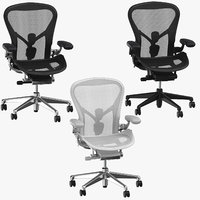 3D herman miller aeron chairs