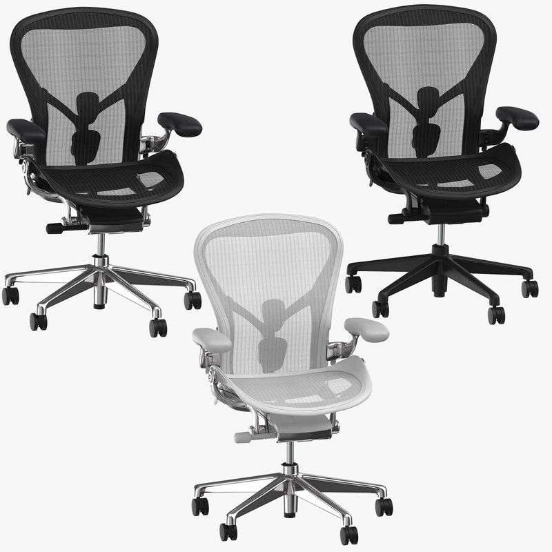 3D herman miller aeron chairs