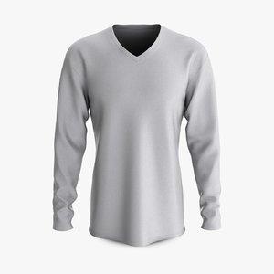 3D cotton male shirt dropped model