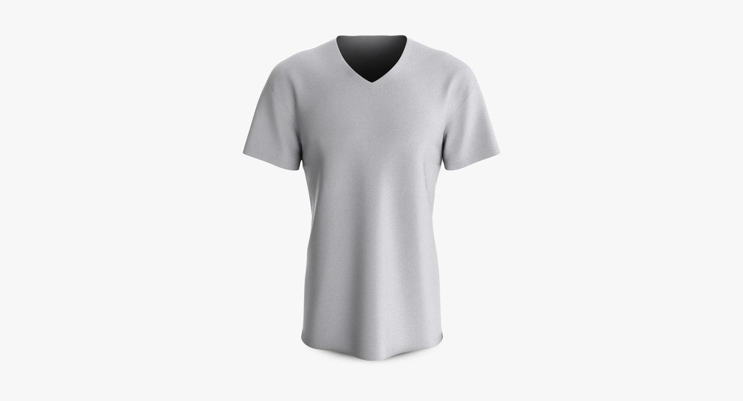 cotton male shirt dropped 3D