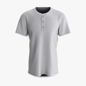 3D cotton male shirt dropped