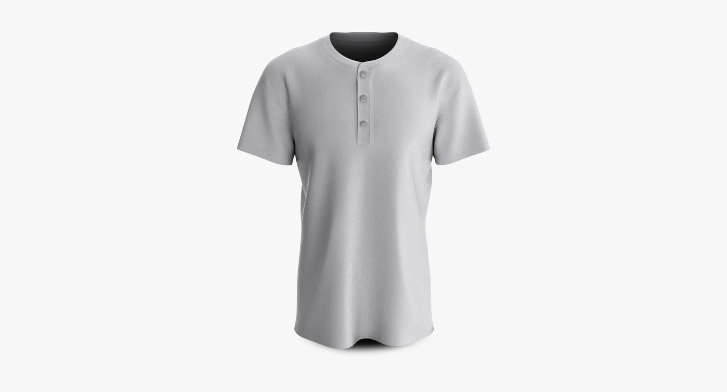 3D cotton male shirt dropped