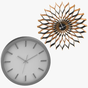 3D contemporary modern clocks