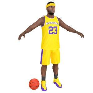 3D basketball player ball model