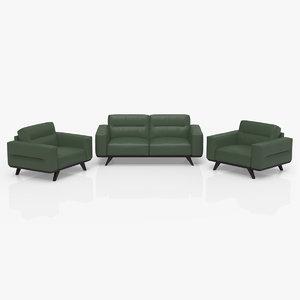 3D model tiber chairs sofa