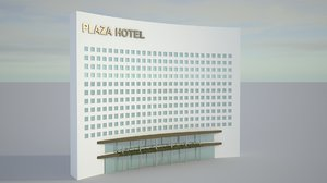 3D realistic hotel architecture proxy model