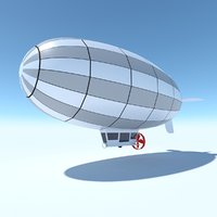 Generic Blimp Stylized LowPoly