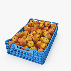 apple plastic crate model