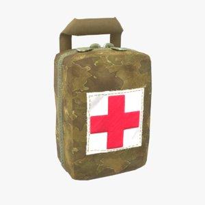 3D military aid kit model
