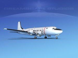 propellers douglas c-54 skymaster 3D