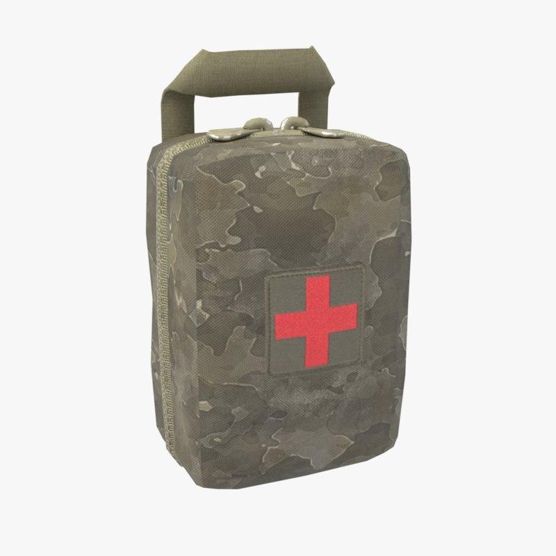 military aid kit 3D