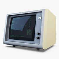 3D model ibm 5150 monitor