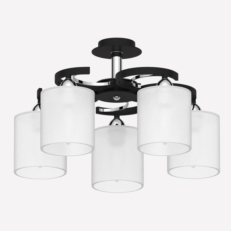 3D chandelier high-tech style