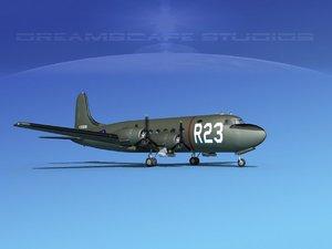 3D propellers douglas c-54 skymaster
