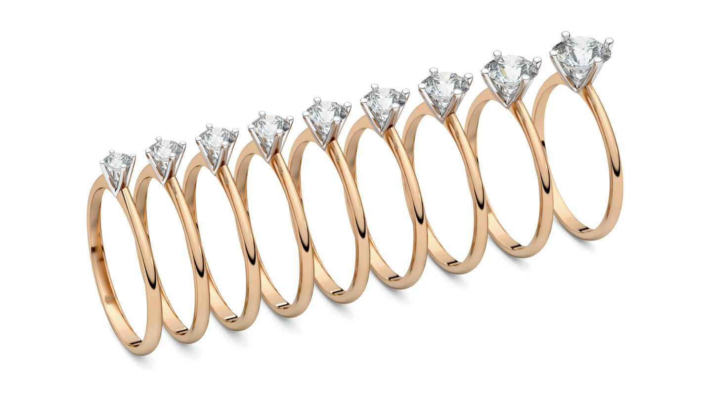set solitaire ring print 3D model