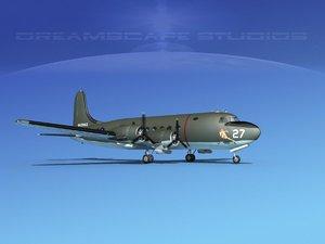 3D propellers douglas c-54 skymaster model