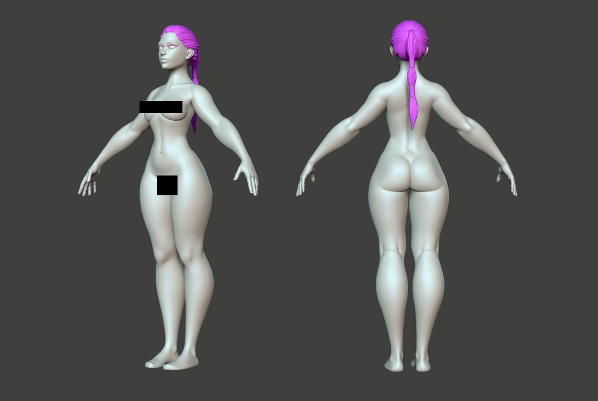 3D female body base