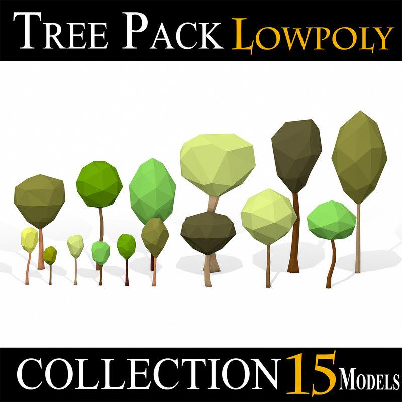 3D simple tree pack -