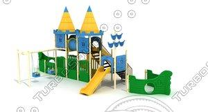 playground equipments 3D