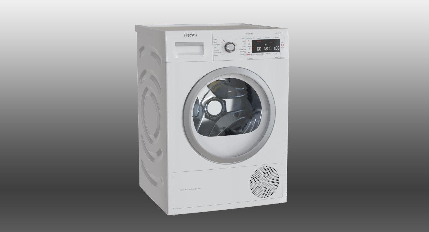3D model bosch dryer machine wtwh7589sn