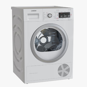 3D model bosch dryer machine wtwh7589sn