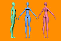 female body base 3D model