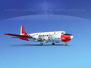 propellers douglas c-54 skymaster 3D model