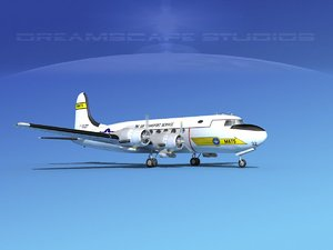 3D model propellers douglas c-54 skymaster
