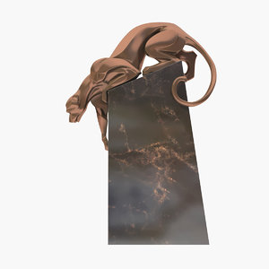 sculpture coguar art deco 3D model
