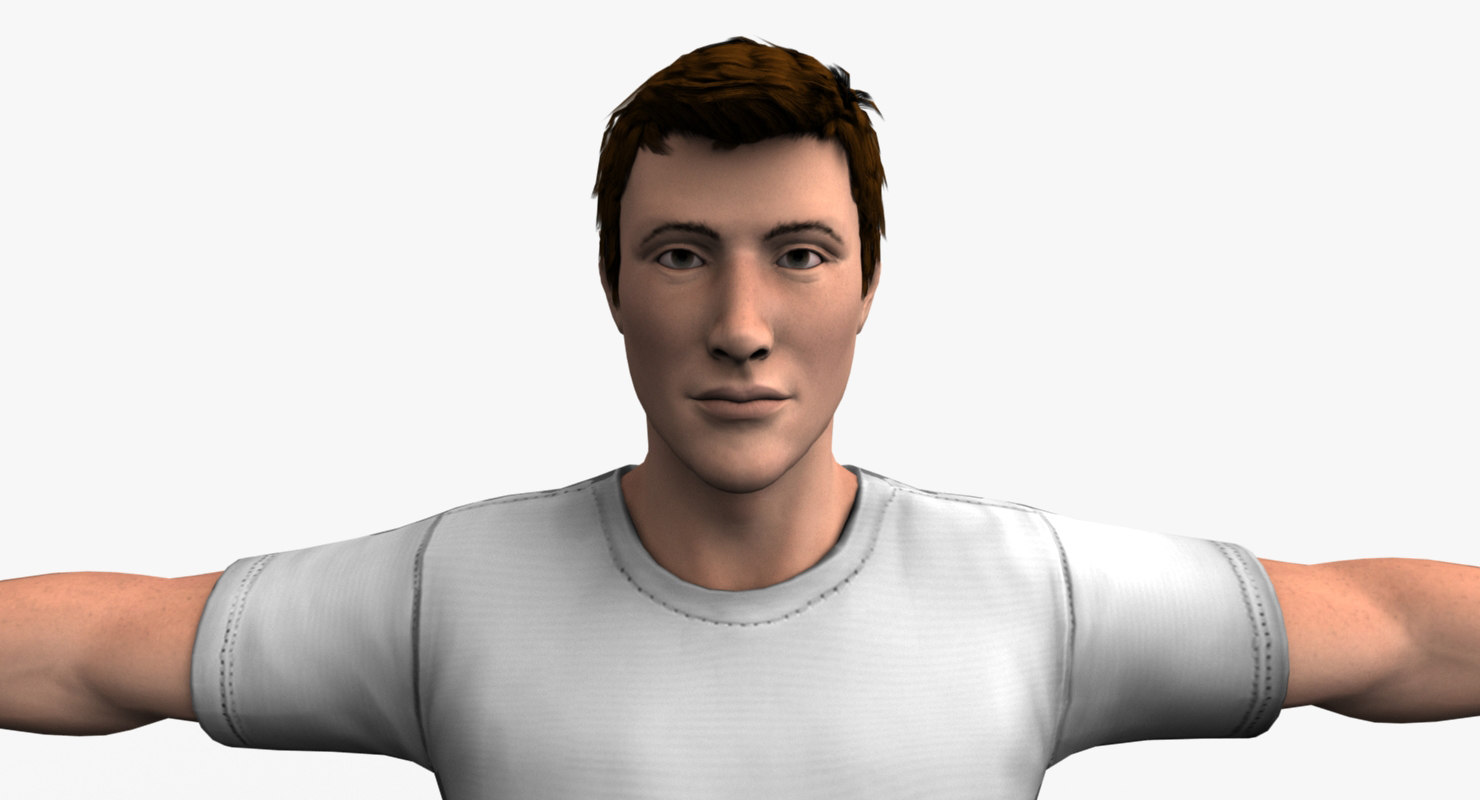 3D realistic male model