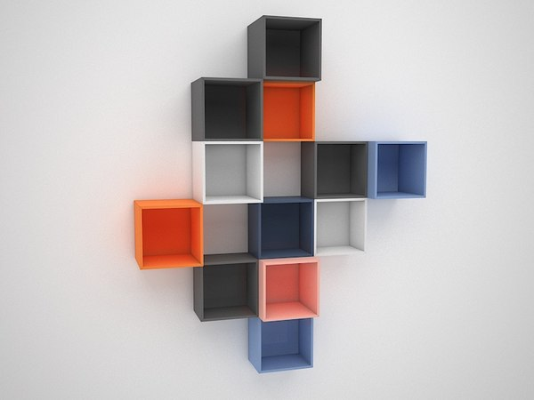 3D book bookcase