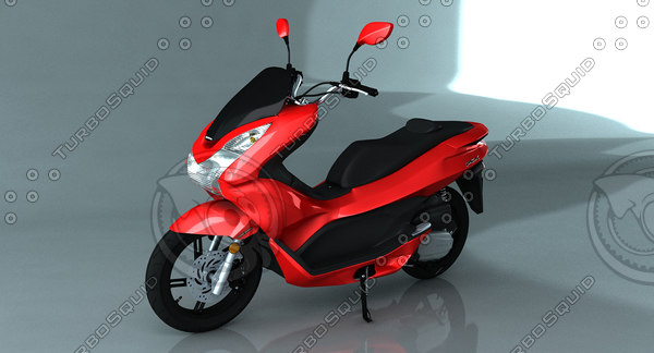 scooter moped polygonal model