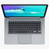 3D silver ultrabook generic 15 model