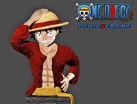 bust luffy piece figure 3D