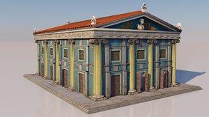 3D greek building classical