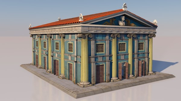 3D greek building classical