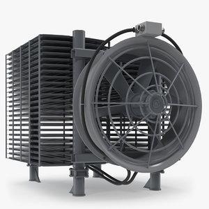 3D industrial radiator fan