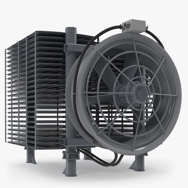 3D industrial radiator fan