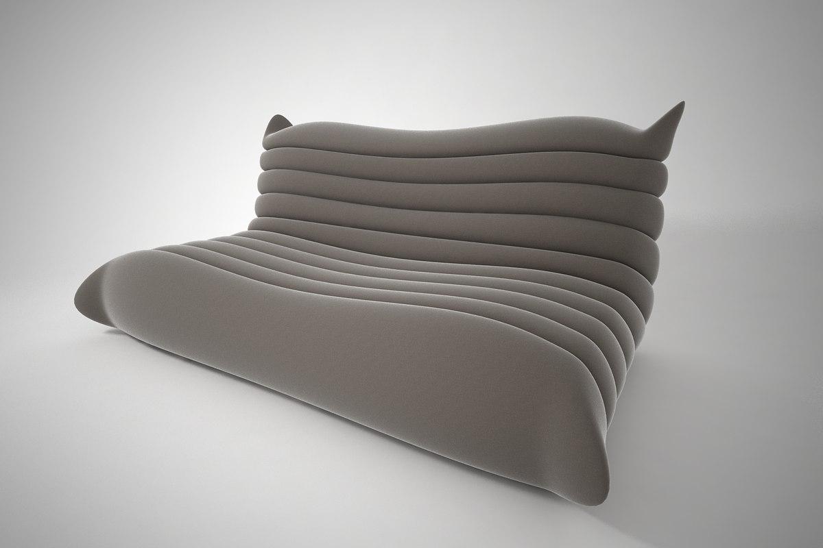 3D furnishings sofa
